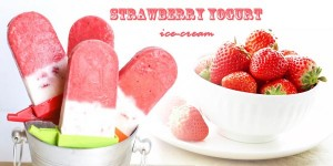 strawberry yogurt ice-cream